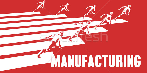 Fabbricazione uomini d'affari esecuzione percorso business donne Foto d'archivio © kentoh