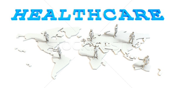 Healthcare Global Business Stock photo © kentoh