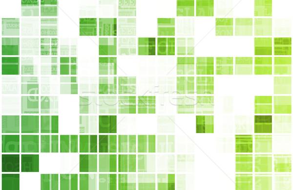 Yeşil modern veri teknoloji karayolu bitki Stok fotoğraf © kentoh