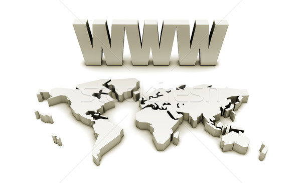 Www world wide web Internet on-line 3D afaceri Imagine de stoc © kentoh