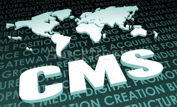 Cms industria global estándar 3D mapa Foto stock © kentoh