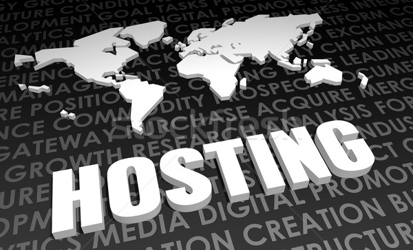Hosting industria global estándar 3D mapa Foto stock © kentoh