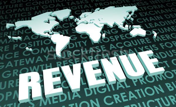 Jövedelem ipar globális szabvány 3D térkép Stock fotó © kentoh