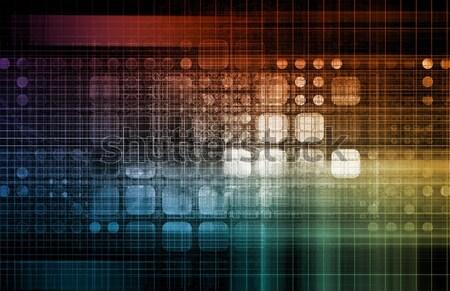 Modern Digital Background Stock photo © kentoh