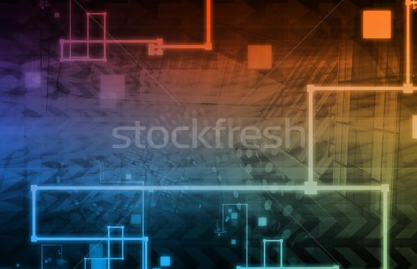 Tecnología de la información soluciones presentación arte negocios ordenador Foto stock © kentoh