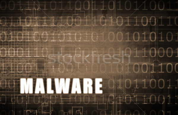 Malware digitale binair waarschuwing abstract computer Stockfoto © kentoh