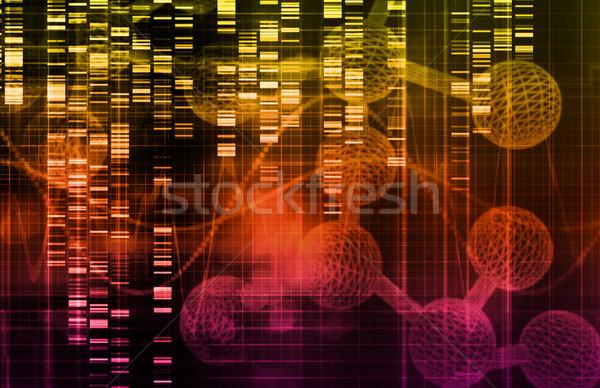 Genetik bilim araştırma tıbbi soyut sanat Stok fotoğraf © kentoh