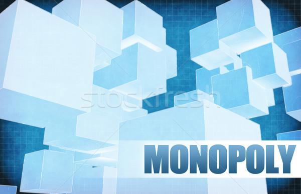 Monopole futuriste résumé présentation slide design Photo stock © kentoh