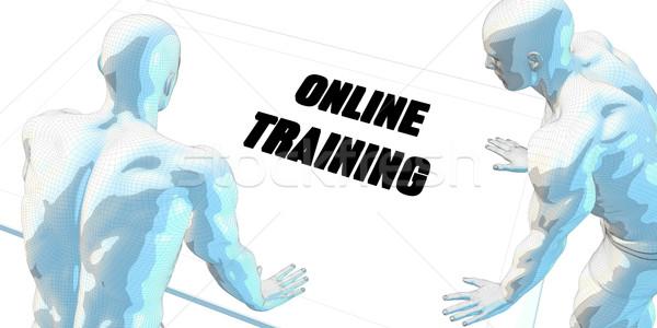 Online Handel Diskussion Geschäftstreffen Kunst Sitzung Stock foto © kentoh