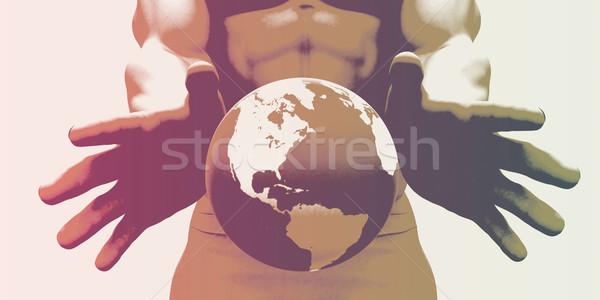 Globalizzazione globale società mani mondo Foto d'archivio © kentoh
