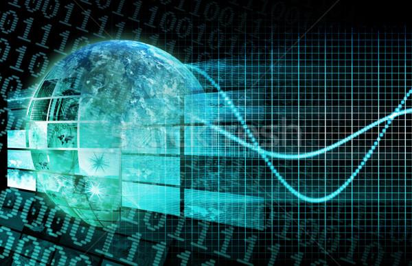 Cyfrowe sieci działalności wymaganie sztuki Internetu Zdjęcia stock © kentoh