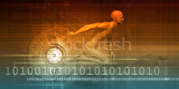 Dynamisch abstract kunst achtergrond wetenschap Stockfoto © kentoh