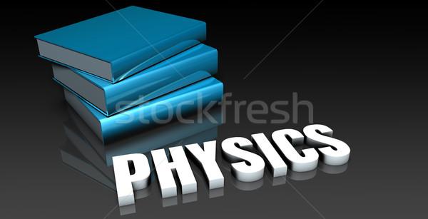 Fysica klasse school onderwijs boek boeken Stockfoto © kentoh