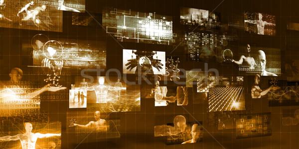 マルチメディア 技術 インターネット ビジネス オフィス ストックフォト © kentoh