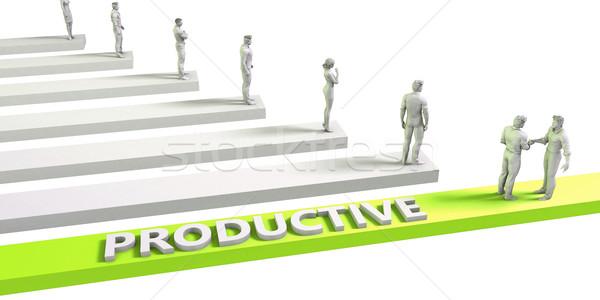 Productivo mentalidad exitoso negocios hombre empresario Foto stock © kentoh