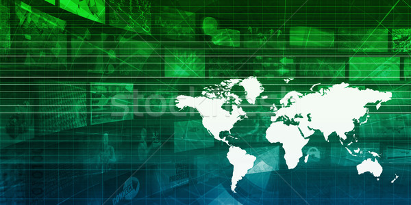 Commerce mondial présentation art travaux monde technologie Photo stock © kentoh