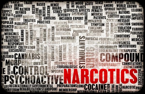 Korlátozott drogok művészet orvosi törvény bűnözés Stock fotó © kentoh