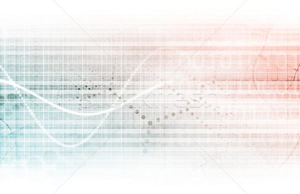 Badania naukowe wykres medycznych sprzedaży sztuki streszczenie Zdjęcia stock © kentoh
