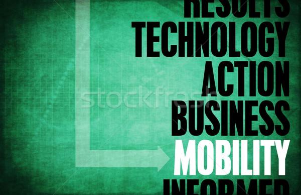 Mobilität Kern Grundsätze Business mobile Retro Stock foto © kentoh