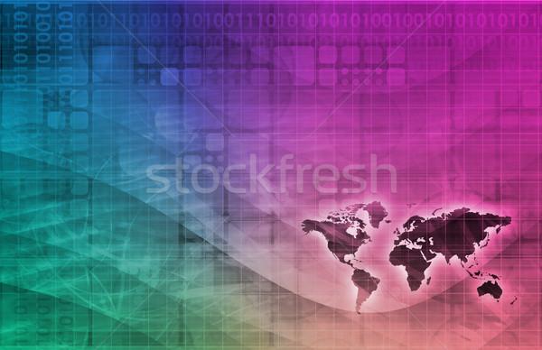 Cyfrowe gospodarki streszczenie działalności technologii tle Zdjęcia stock © kentoh