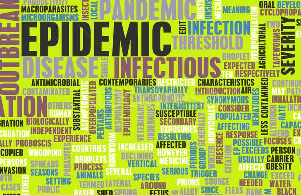 Epidemie besmettelijk ziekte concept verandering controle Stockfoto © kentoh