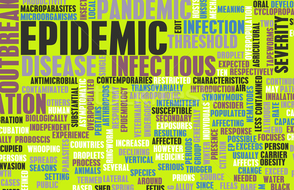 Epidemia doença conceito mudar controlar Foto stock © kentoh