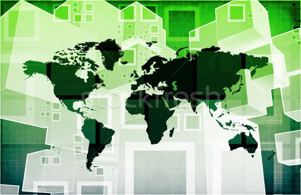 Globális import export üzlet bemutató művészet Stock fotó © kentoh