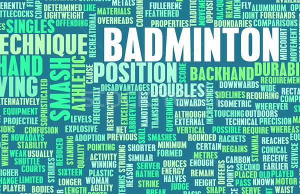 Badminton spor oyun kuş takım Stok fotoğraf © kentoh