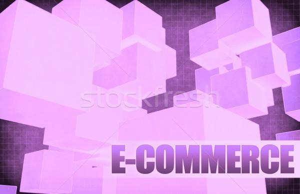 E-ticaret fütüristik soyut tanıtım slayt arka plan Stok fotoğraf © kentoh