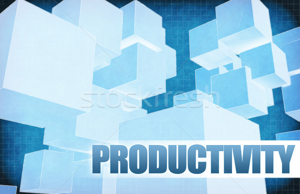 Productivity on Futuristic Abstract Stock photo © kentoh