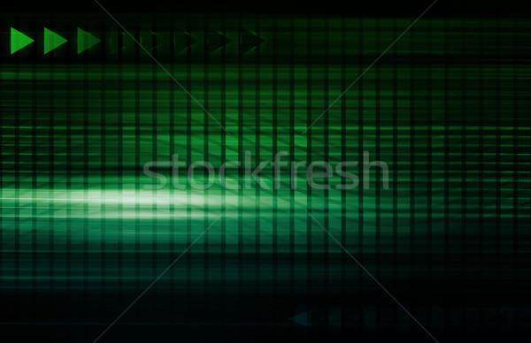 Digital gestão direitos automação negócio tecnologia Foto stock © kentoh
