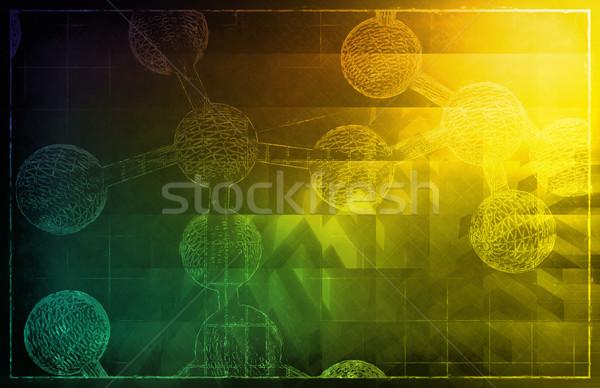 Genético código ADN proteína arte médicos Foto stock © kentoh