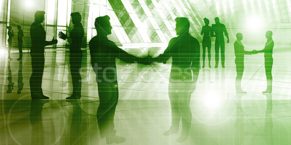 Negocios debate grupo profesionales resumen Foto stock © kentoh