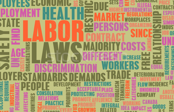 Labor Laws Stock photo © kentoh