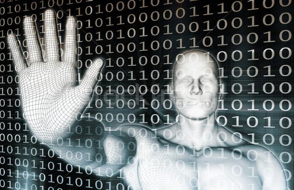 Tecnologia da informação abstrato tecnologia segurança rede teia Foto stock © kentoh