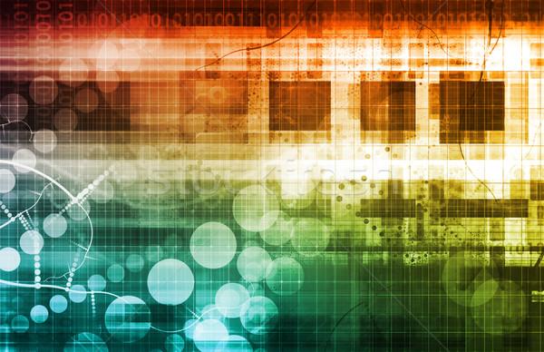 Ciberespaço binário dados arte internet Foto stock © kentoh