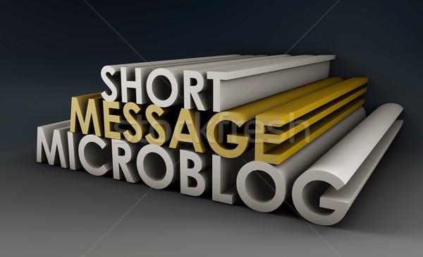Microblog Stock photo © kentoh