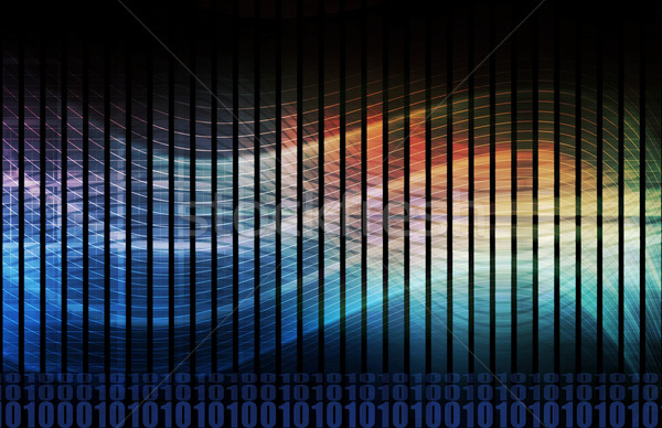Kompleks algorytm odnaleźć wzorców danych Internetu Zdjęcia stock © kentoh