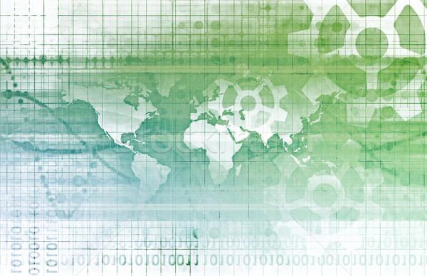 Geïntegreerd oplossingen web internet kaart Stockfoto © kentoh