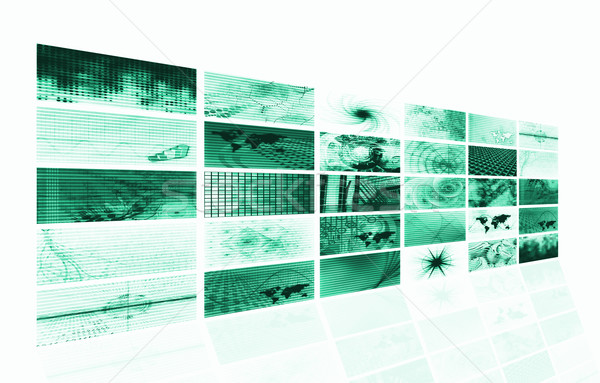 Futuristic Media Abstract Background Stock photo © kentoh