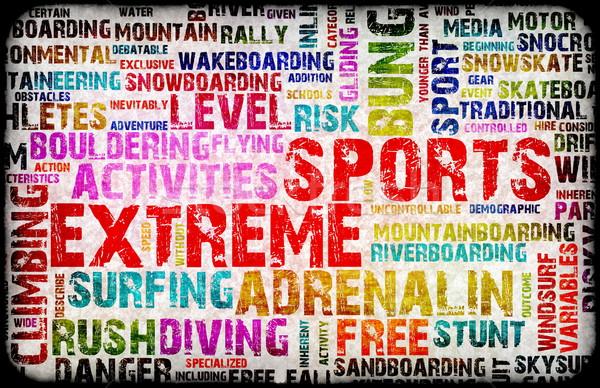Ekstremalnych sportowe grunge sportu tle młodzieży Zdjęcia stock © kentoh