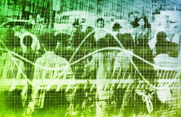 Statistiche grafico folla abstract business gruppo Foto d'archivio © kentoh