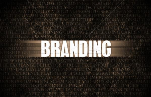 Branding üzlet motiváció kőfal fal háttér Stock fotó © kentoh