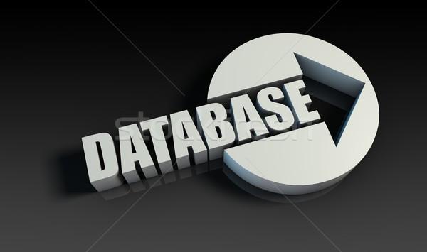 Bazy danych arrow działalności technologii kluczowych danych Zdjęcia stock © kentoh