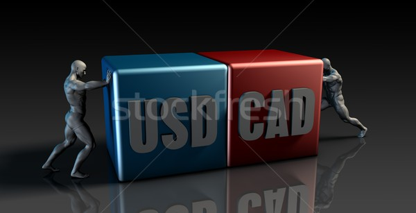 USD CAD Currency Pair Stock photo © kentoh