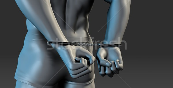 Arrested Man in Handcuffs Stock photo © kentoh