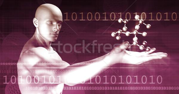 Proteger rede global proteção dados arte Foto stock © kentoh