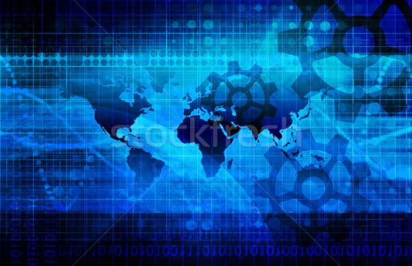 Ipari globális térkép mérleg üzlet épület Stock fotó © kentoh