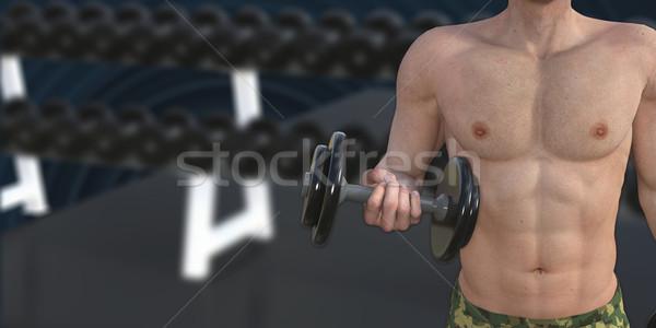 Man Muscle Training Stock photo © kentoh