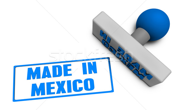 Made in Mexico Stamp Stock photo © kentoh